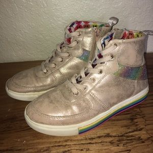 🌈 Rose Gold Steve Madden high tops